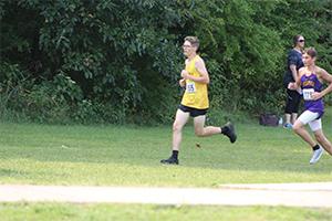 Boy Runner running alone