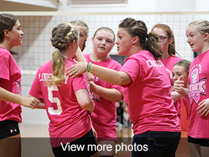 View more photos from the girls volleyball pink-out game