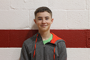 October Junior High Student of the Month Colby Maxwell