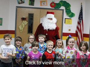 View more photos of Santa visiting Valley R-VI Elementary students