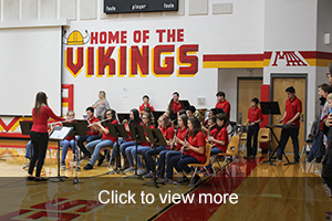band playing at the Veterans Day Assembly