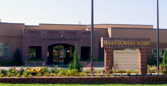 Front view of Masada Charter School