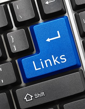 Links key on a computer keyboard
