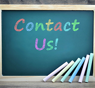 Contact Us written on a blackboard