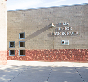 Front view of Pima Junior High School