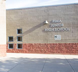 Front view of Pima Junior High School