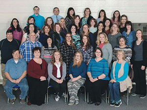 Pima Elementary School Faculty and Staff posing together