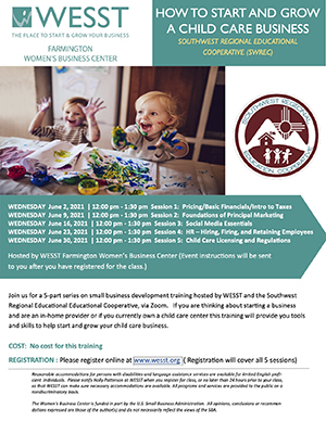 How to Start and Grow Child Care Business Flyer