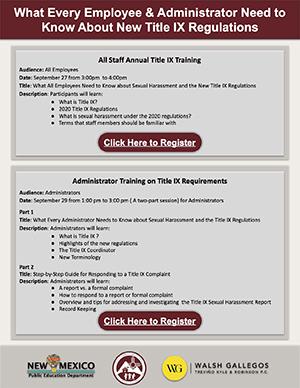 Employee Title IX Regulations Flyer