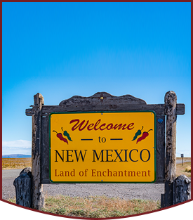 Photo of a Welcome to New Mexico - Land of Enchantment wood sign