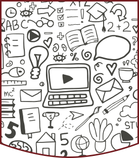 Various educational icon drawings