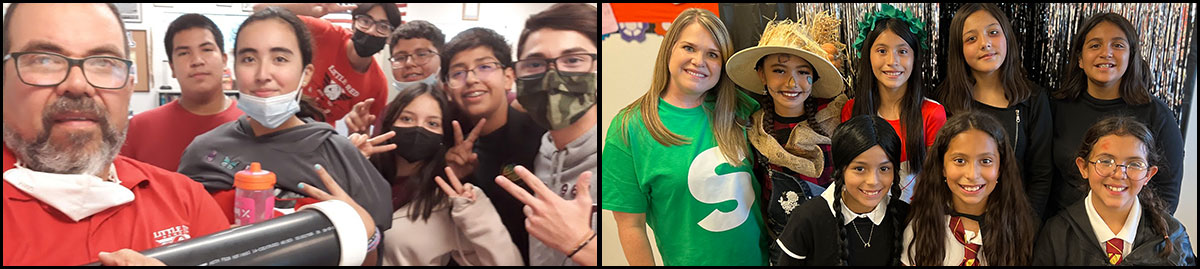 staff members and students enjoying various school activities