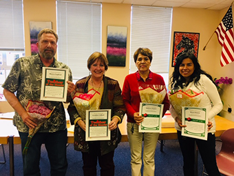 Teachers and Employees of the Month