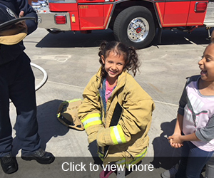 Click to view more photos of the Fire Station Field Trip