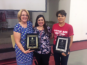 Teacher of the year: Amanda Dupuy and Employee of the year: Dolores Nunez