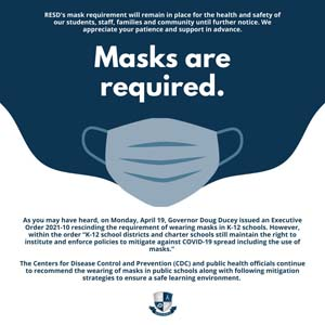 Masks are required flyer