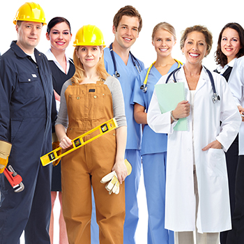 People in career attire