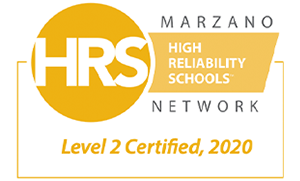 Marzano Network High Reliability Schools, Level 2 certified 2020