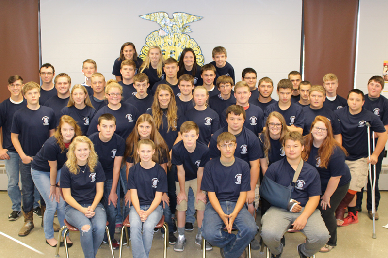 South Decatur Jr/Sr High School Future Farmers of America Club members