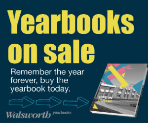 Yearbooks are on sale. Remember the year forever, buy the yearbook today. Walsworth Yearbooks.