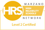 HRS High Reliability Schools Marzano Network Level 2 Certified logo