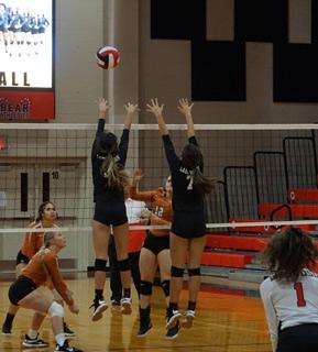 Varsity volleyball players