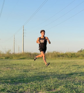 Cross country runner at a meet