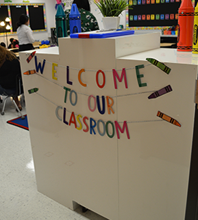 a sign that says Welcome to Our Classroom