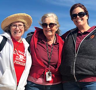 Three female staff members