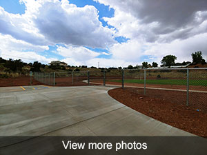 Click to view more photos of the football field sidewalk repairs