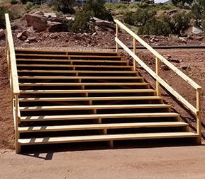 steps built of wood