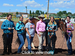 photos from the FFA competition at the Navajo County HAC horse show