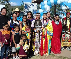 group in Native American Attire
