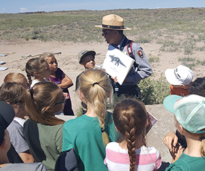 students with a Park Ranger
