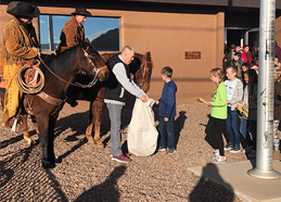 students mailing letters with the Pony Express