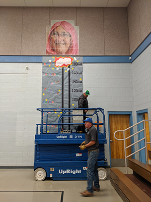 Maintenance hanging the thermometer for reading challenge