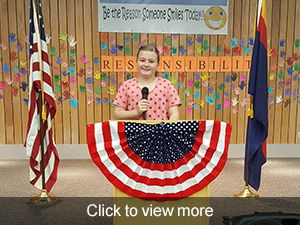 photos from our Veterans Day program