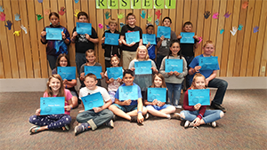 Students of the Month pose together