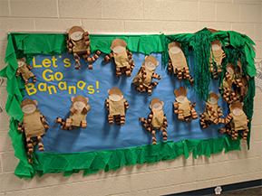 Let's Go Bananas bulletin board