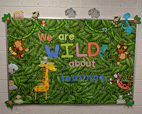 We are Wild About Learning bulletin board