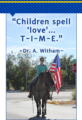 Children spell love... T-I-M-E. - Dr. A. Witham