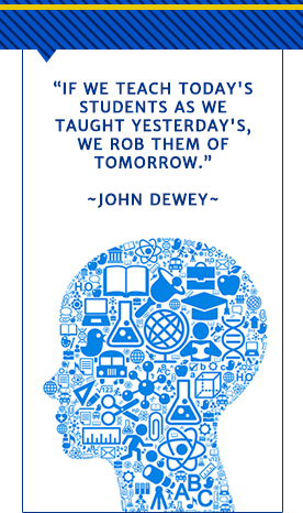 If we teach todays students as we taught yesterdays we rob them of tomorrow. John Dewey