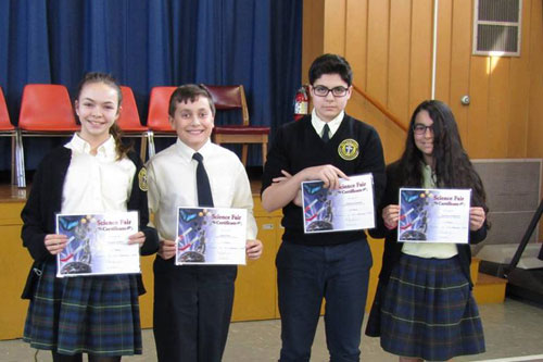 1st Place Science Fair Winners 2018