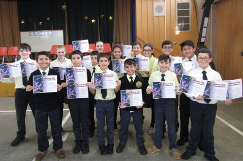 Grade 6 Science Fair Awards 2018