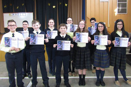 Grade 7 Science Fair Awards 2018