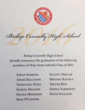 view 2016 Bishop Connelly High School Graduates Flyer
