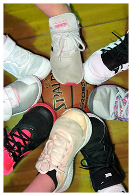 student with magnify glass