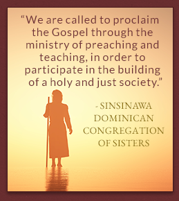Sinsinawa Dominican Congregation of Sisters quote