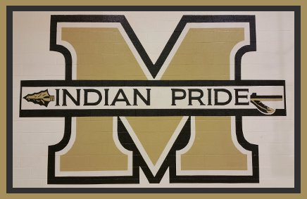 Indian Pride logo painted on a brick wall