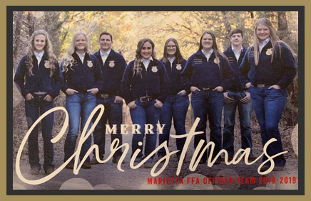 Merry Christmas Marietta FFA Officer Team 2018-2019